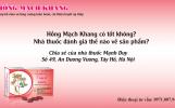 Hồng Mạch Khang có tốt không, nhà thuốc đánh giá thế nào về sản phẩm?