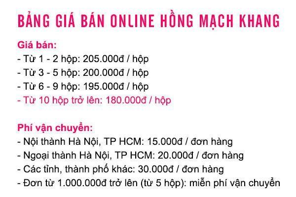 Bảng giá Hồng Mạch Khang