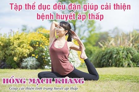 Người bệnh huyết áp thấp nên duy trì tập thể dục mỗi ngày